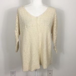Billabong Cream Colored Pullover Knit Sweater